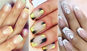 Play dress up with your square shaped nails! Here are some chic manicure ideas