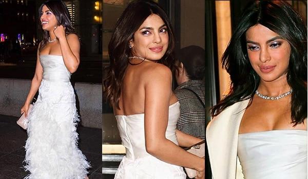 Priyanka Chopra is a vision in white at her bridal shower
