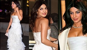 Priyanka Chopra is a vision in white at her bridal shower