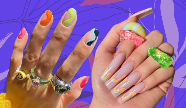 Psychedelic nail art is trending RN — here's how to recreate this trend at home