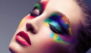 Love is love! Show support by wearing rainbow makeup and hair!