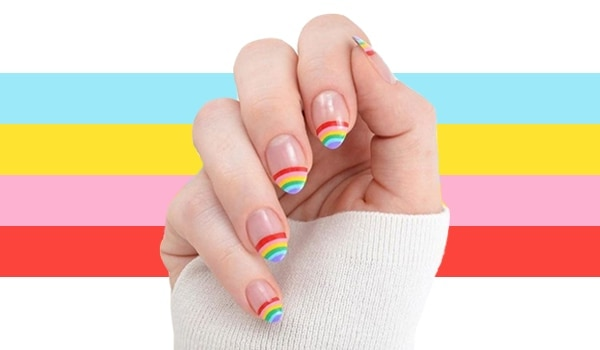Celebrate pride month with these bold and beautiful rainbow nail art