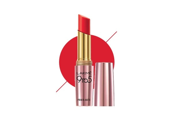 Lakmé 9to5 Primer + Matte Lipstick in Red Coat