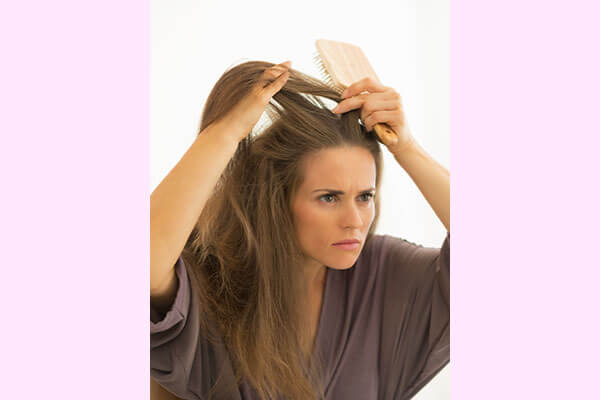 Step 1: Section your hair into the front and the back partition