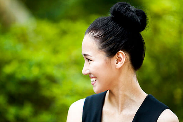 1. Sleek topknot