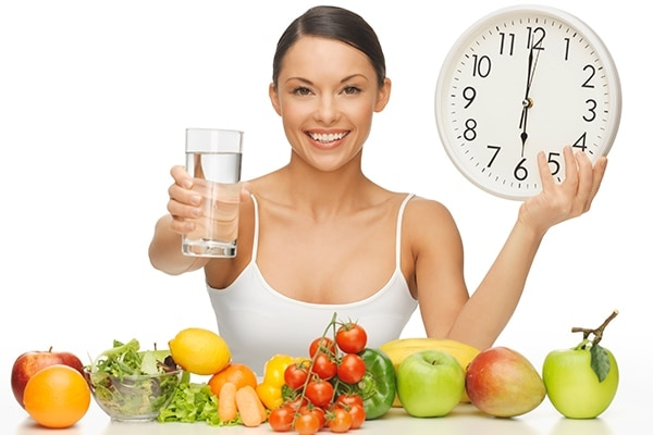 Healthy diet and lots of water