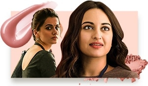 Sonakshi and Taapsee are giving working girls everywhere serious makeup goals on these Mission Mangal posters