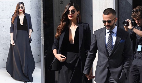 Sonam K Ahuja makes one helluva statement in a black floor length gown
