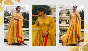 Sonam Kapoor Ahuja brightens our day with her ochre outfit