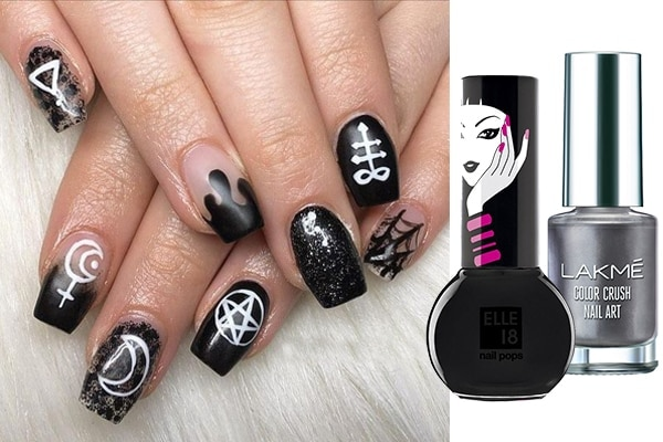 Spooky Goth nail art ideas