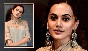 Taapsee Pannu looks gorgeous in earthy tones during her 'Manmarziyaan' promotions