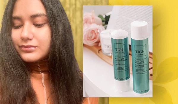 The TIGI Custom Care Moisture range gave me my smoothest hair wash experience ever