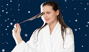 This is why you shouldn't wash your hair at night-time