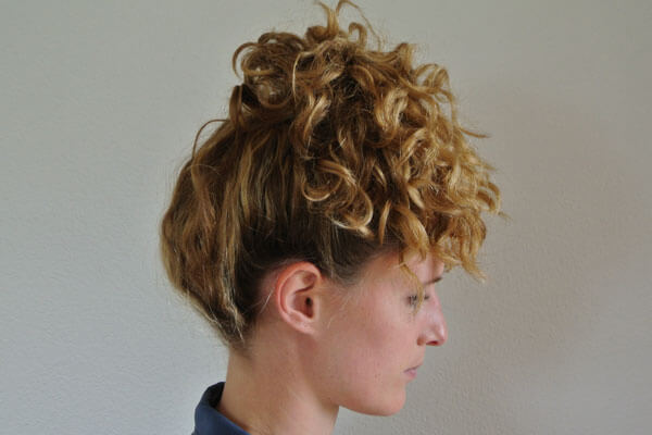 Tie your hair up for curly hair