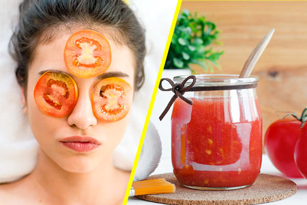 Tomato Pulp Mask for Oily Skin