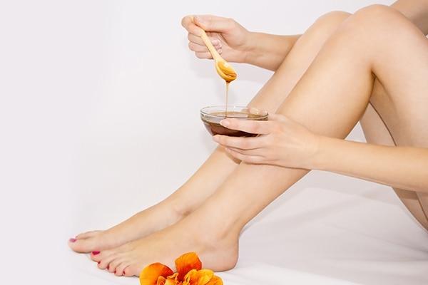 Sugar and honey foot scrub