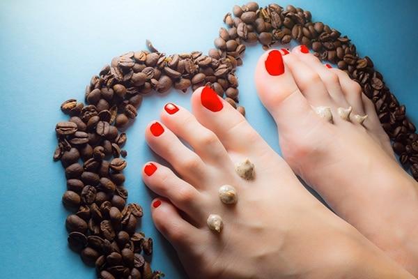 Coffee ground foot scrub