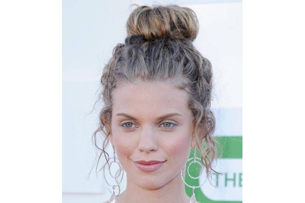 Trendy top knot hairstyle for your next updo
