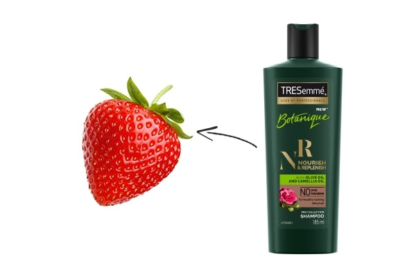 Shampoo: A strawberry