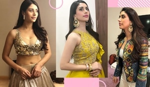 Bookmarking Warina Hussain's looks from 'Loveyatri' for the upcoming festive season.