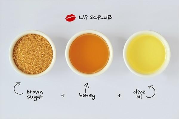 Olive oil for lip scrub