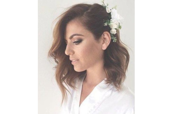 Floral side part