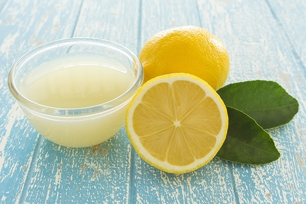 Rinse with a lemon juice and water mixture