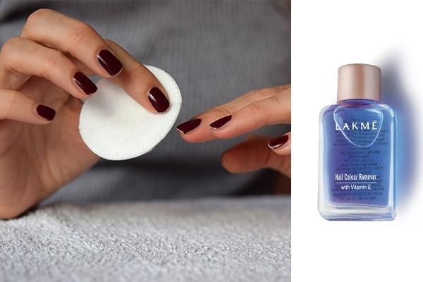 Remove the nail polish