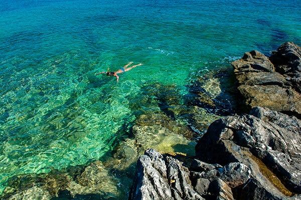 a dip in the big blue sea