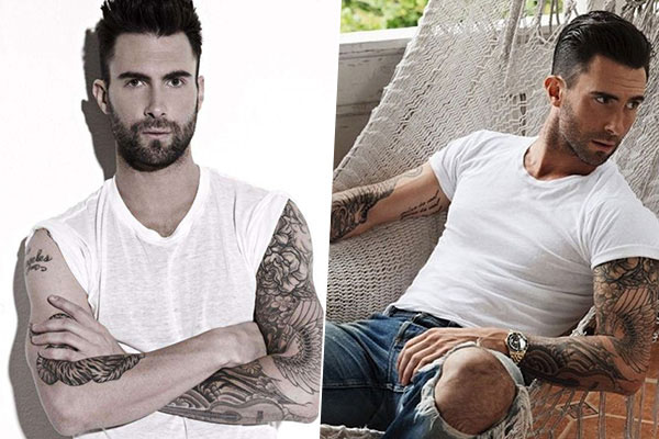 adam levine in ripped jeans and slouchy tees
