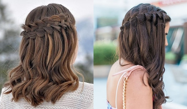 Amp up your hair game with these stunning waterfall braids