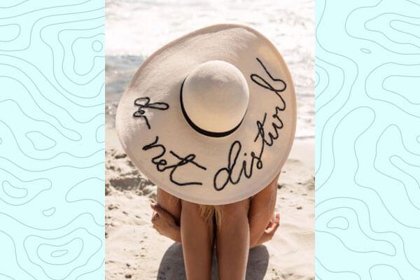 A beach hat