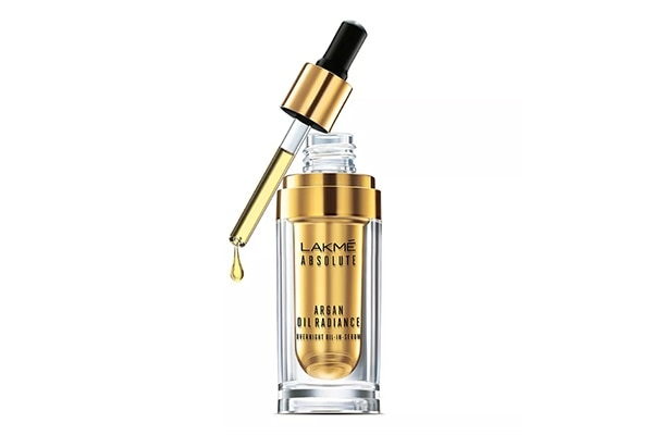 Lakme Absolute Argan Oil Radiance Overnight Oil-in-Serum