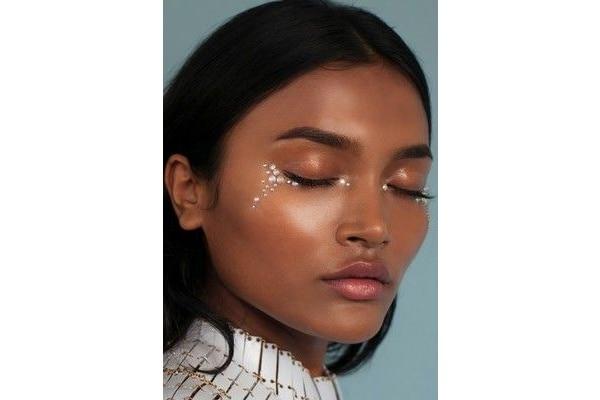 Rhinestone makeup