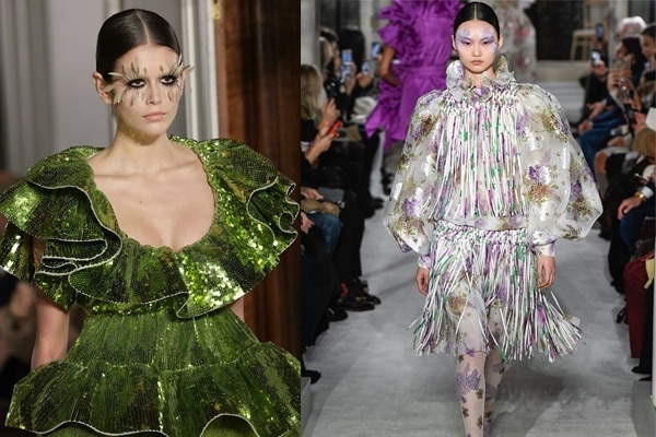 Valentino—Feather lashes