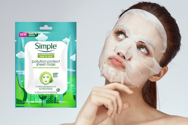 Simple Kind To Skin Pollution Protect Sheet Mask—for environmental mayhem