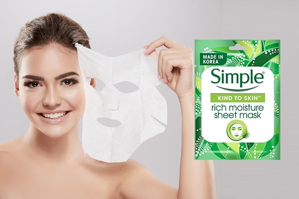 Simple Kind To Skin Rich Moisture Sheet Mask—for skin dry as a bone