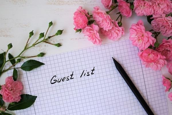 Prepare a guest list