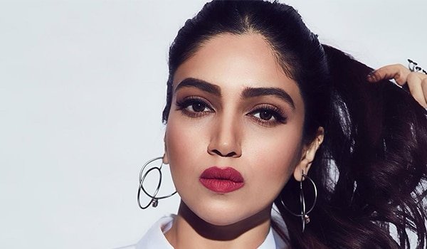 Bhumi Pednekar's brown smokey eyes and red pout are a winning team