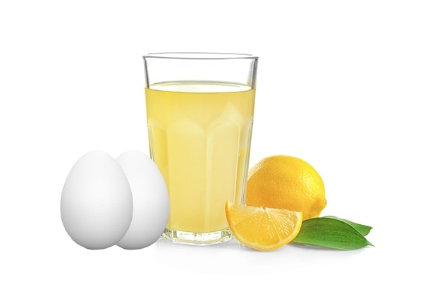 Lemon juice + Egg whites