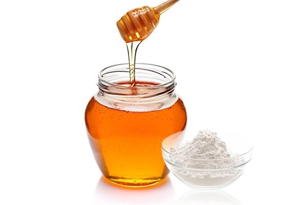 Honey + Baking soda
