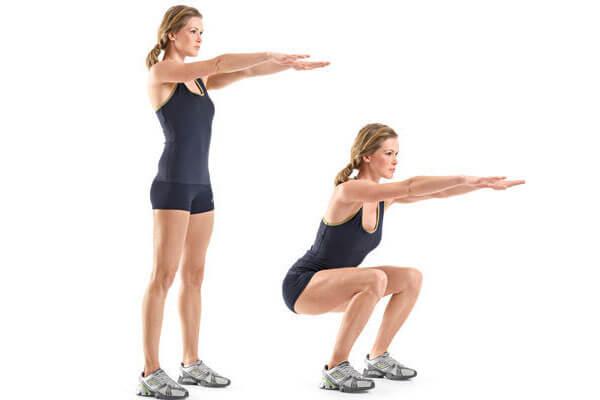 Bodyweight Squats (1 set, 15 reps)