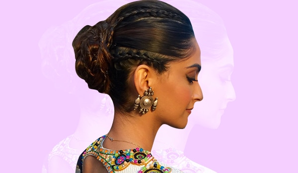 How to make a braided chained bun
