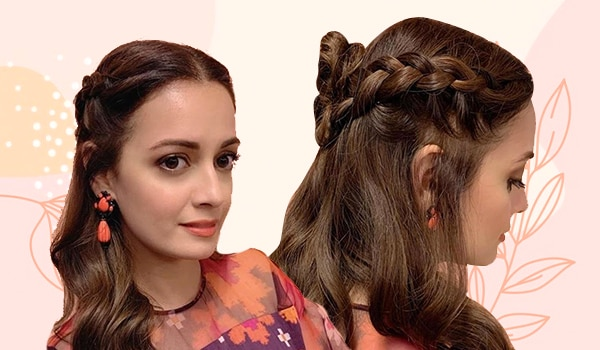 How to create the braided half bun for summer