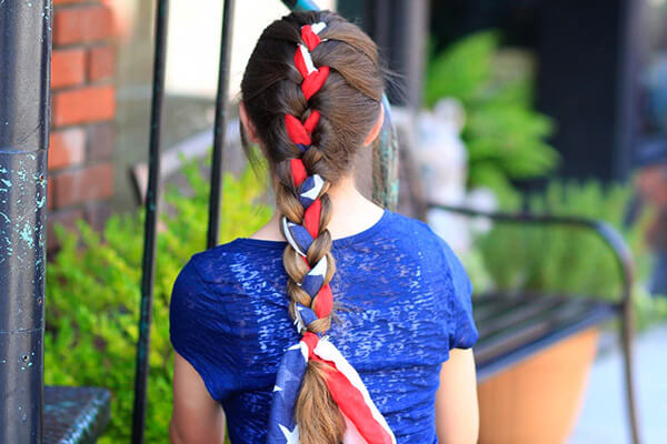 braided scarf hairstyle