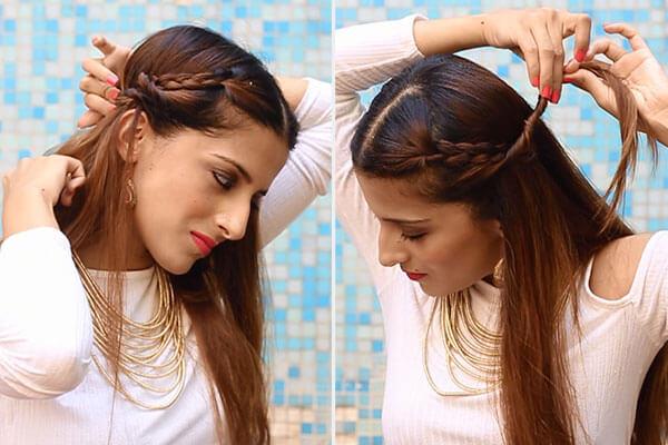 braided twists hairdo
