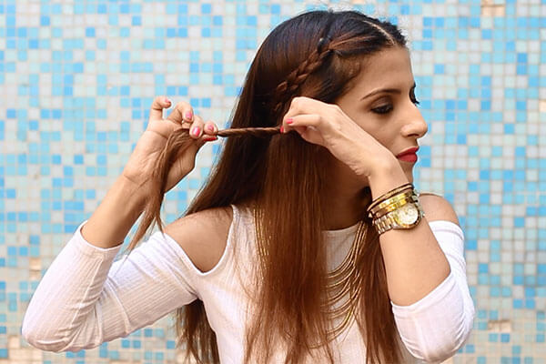 braided twists hairstyle for summer