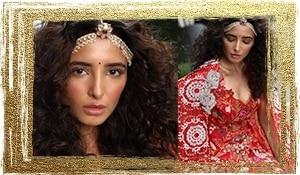 Bridal Makeup Inspiration: Namrata Soni's simple and fresh curly haired bride