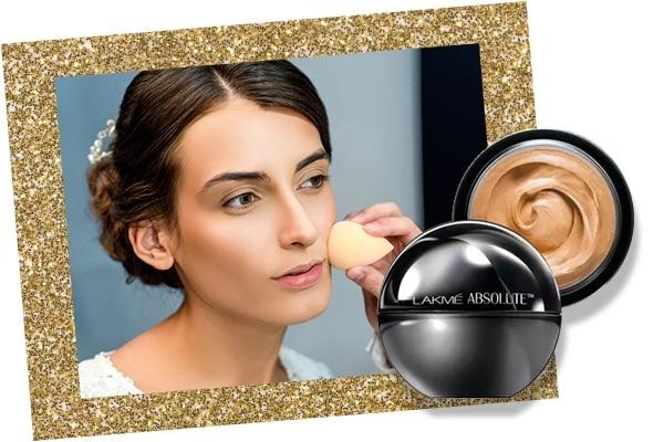 Foundation in bridal makeup kit