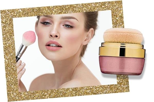 Blush in bridal makeup kit
